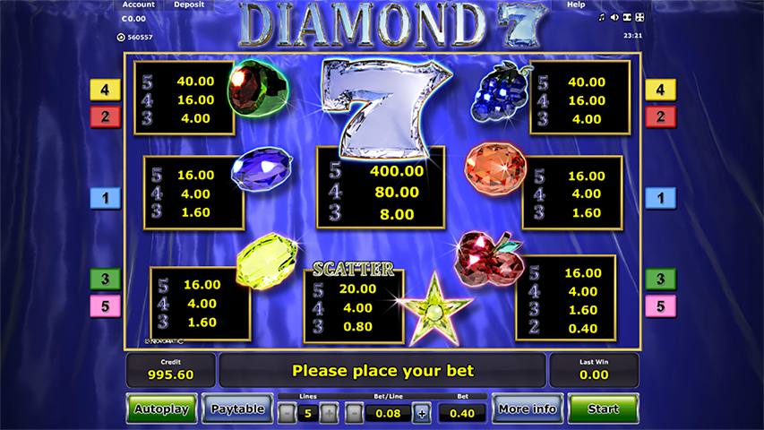 Diamond-7-Slot-Paytable