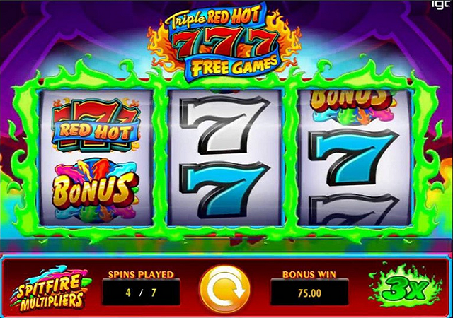 Triple-Red-Hot-777-Bonus-Game