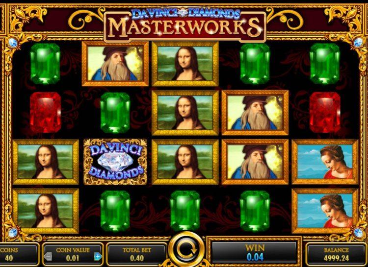 Da Vinci Diamonds Masterworks Slot