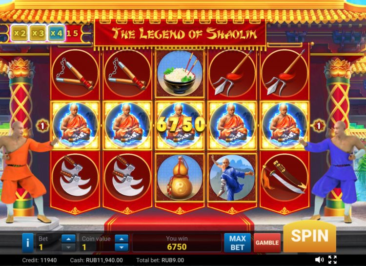 The Legend of Shaolin Online Pokie