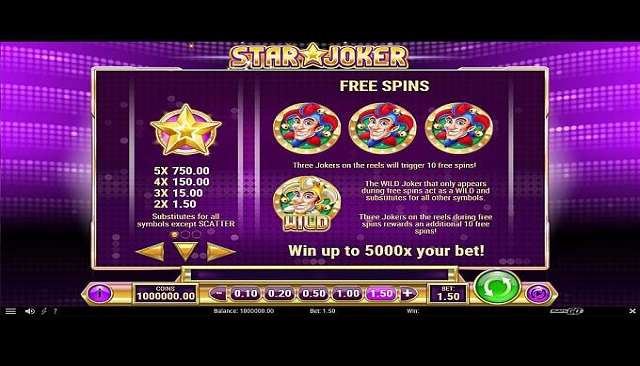 star-joker-slot-paytable